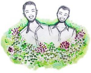 Christian und Manuel, die Gründer von microgreen-shop.com