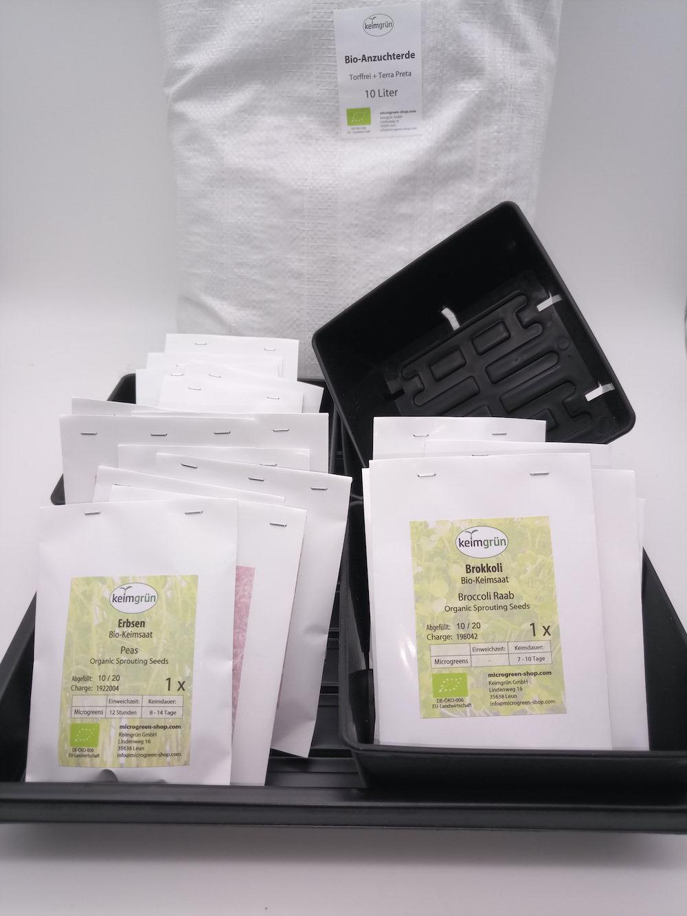 Microgreen Starterpaket mit 12 Sorten. Noch stabiler!
