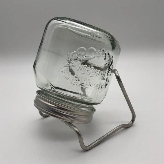 Hochwertiges Sprossenglas mit Edelstahl-Halterung - 750ml