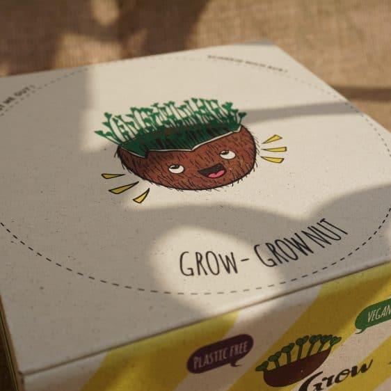 """Grow-Grow Nut Starterpaket - Unser Maskottchen """"Sprossbert"""""""