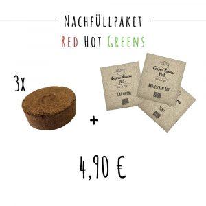 Inhalt des Nachfüllpakets Red Hot Greens