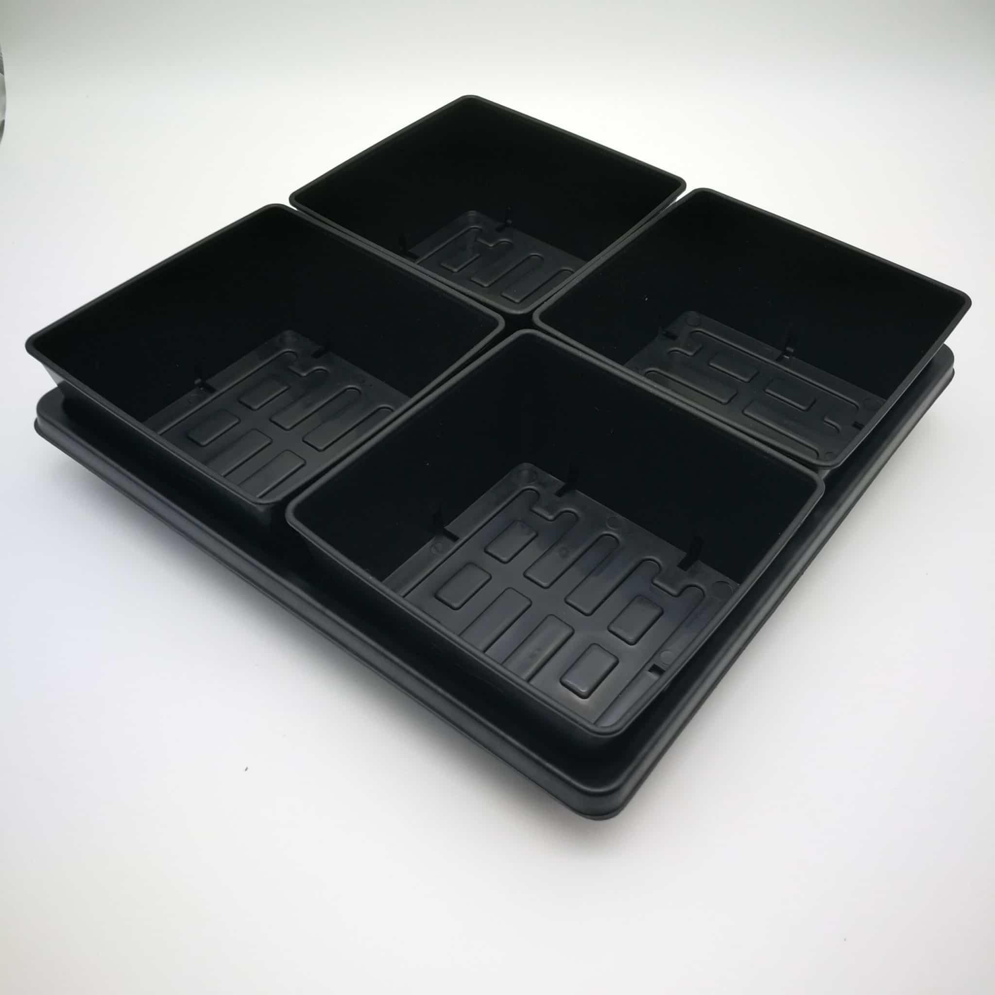 Microgreen Tray 5x5 in Microgreen Tray 1010 (flach)