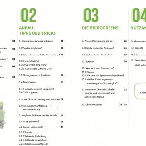 Microgreen Starter Guide Inhaltsverzeichnis